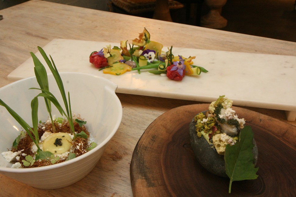 Dishes from the new menu