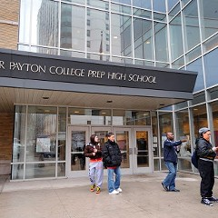 Does Bruce Rauner realize that this is a unionized Chicago high school?