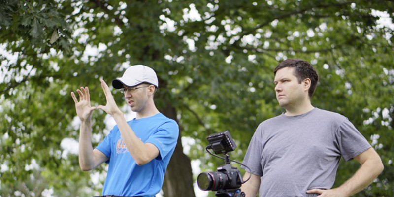 Donald Eggert III, Director of Photography and Lance Eliot Adams, Director; Harold in the Zone on set