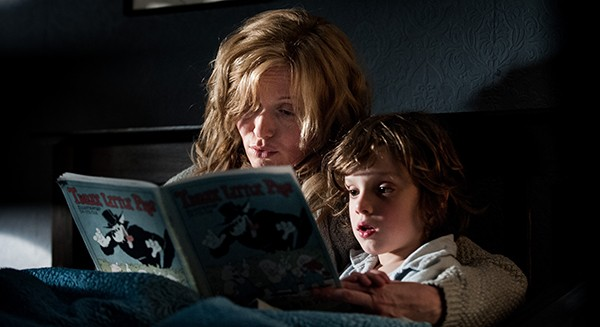 Essie Davis (left) and Noah Wiseman in The Babadook