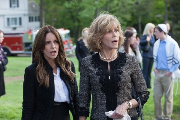 Fey (left) with Jane Fonda in This Is Where I Leave You