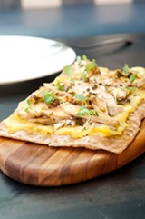Foie gras and pineapple flatbread was rich but well balanced. - ANDREA BAUER