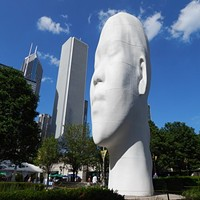 Four big, dreamy heads by Jaume Plensa take up residence in Millennium Park