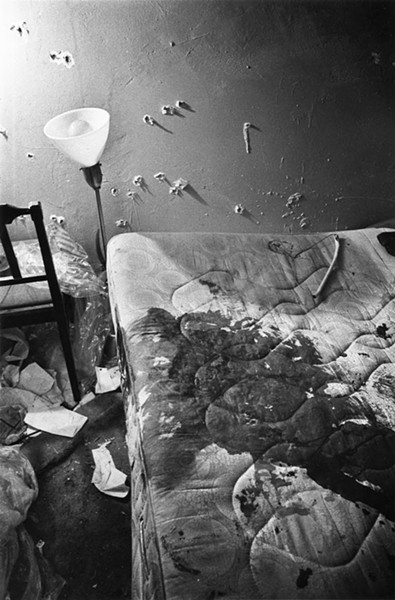 Fred Hampton's blood-soaked mattress at 2337 W. Monroe