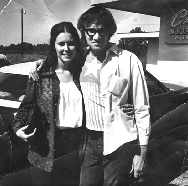 Freddy and his then-wife Theresa in Johnston City (note the Captain America T-shirt) - COURTESY FREDDY BENTIVEGNA