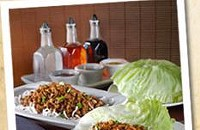 Free chicken lettuce wrap at P.F. Chang's
