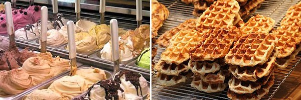 Gelato and Belgian waffles at Baladoche