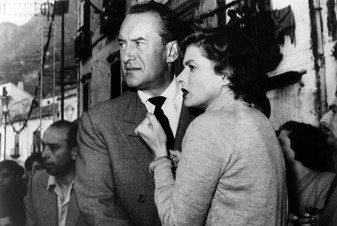 George Sanders and Ingrid Bergman in Voyage to Italy