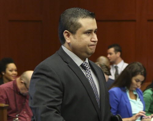 George Zimmerman yesterday