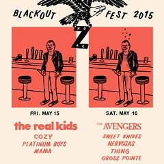 Getting blacked out on the Blackout Fest gig poster