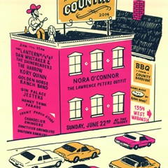 Gig poster of the week: An all-day country billboard