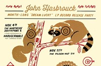 Gig poster of the week: John Hasbrouck's woodland creatures