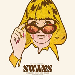 Gig poster of the week: Swans' bloody shades