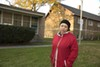 Gladys Aponte between the Neighborhood Boys & Girls Club and the Revere Park field house