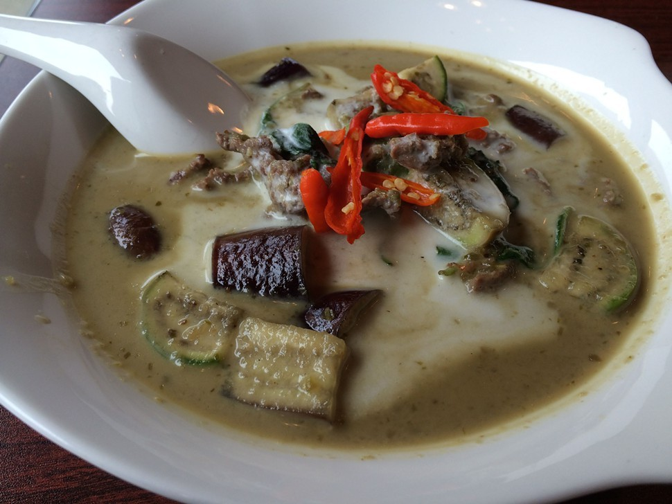 Green curry with beef, In-On Thai
