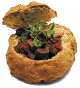 """""""Haggis"""" stew with lamb heart and liver served in oatmeal soda bread - JULIA THIEL"""