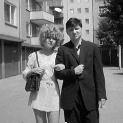 Hanna Schygulla and Rainer Werner Fassbinder in Katzelmacher