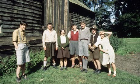 Helen Mirren (far right) plays one of the seven-year-olds in Blue Remembered Hills