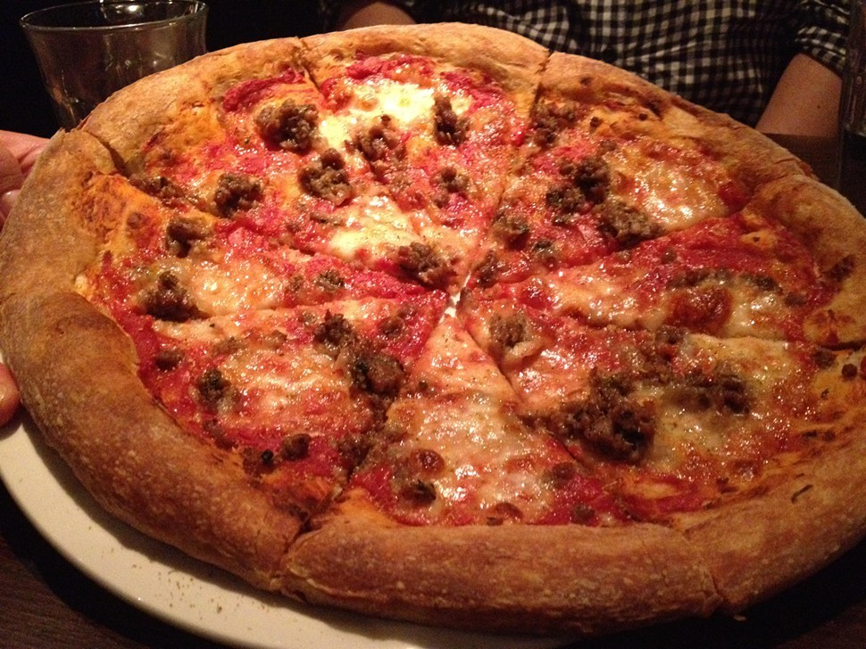 House-made pork sausage pizza, Stella Barra