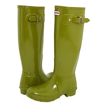 Hunter Boots in Original Gloss Pea Green