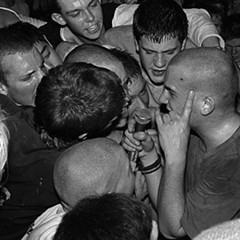 Ian MacKaye singing in the crowd, playing with Minor Threat in 1983