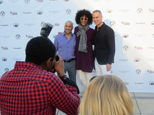 Illinois Restaurant Association prez Sam Toia, Carla Hall, and Adam Rapoport