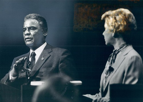 In a 1983 debate with Mayor Jane Byrne and Cook County States Attorney Richard M. Daley, Harold Washington called attention to an enormous black unemployment rate in Chicago, a problem that continues more than 30 years later.