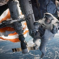 In Gravity, George Clooney and Sandra Bullock are lost in space