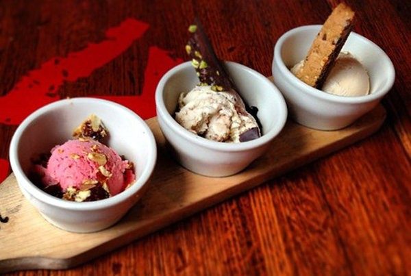 [Instagram photo: gelato flight at Davanti Enoteca Chicago]
