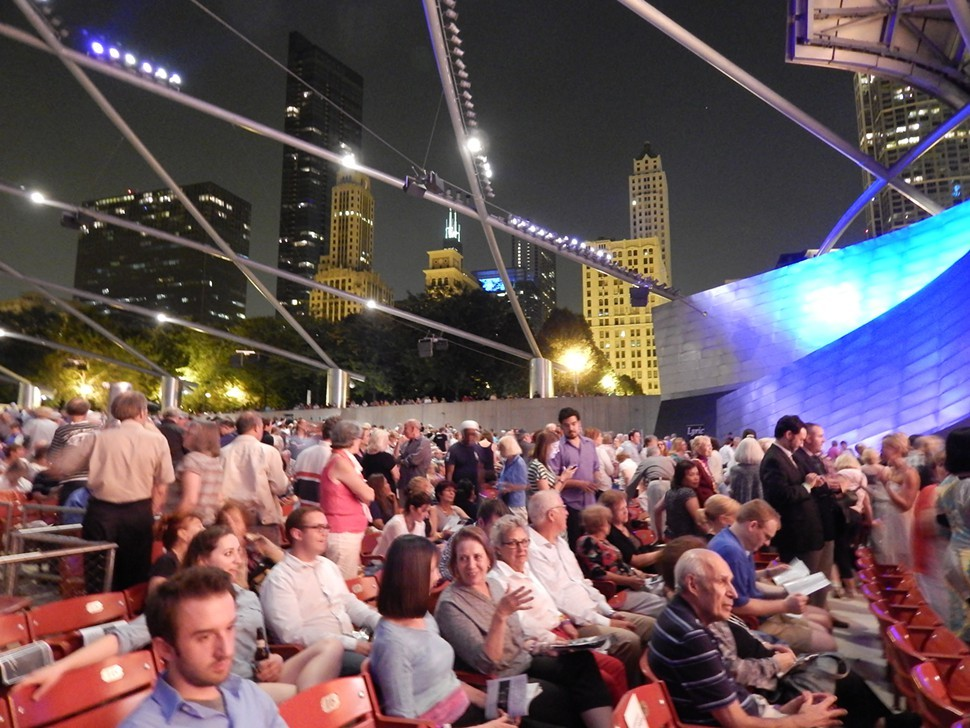 Intermission at Pritzker Pavilion