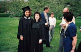 Iris Chang and Paula Kamen on their graduation day at the U. of I., 1989 - COURTESY OF THE UNIVERSITY OF ILLINOIS ARCHIVES; IRIS CHANG PAPERS