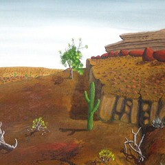 Is this painting an early work by celebrated artist Peter Doig?
