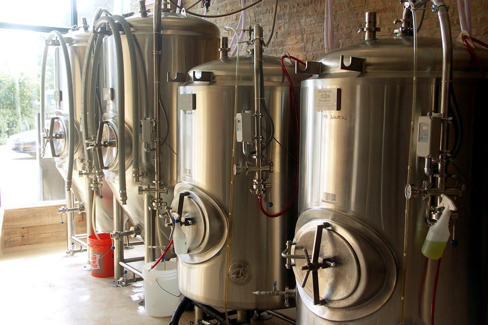 It turns out the tanks in a certified organic brewery look just like everybody elses tanks.
