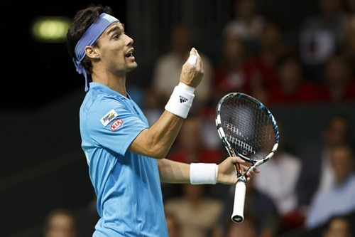 Italian tennis player Fabio Fognini, shown here in September, made an obscene gesture to the crowd after a match this week--or maybe it was someone else. Good copy editing would make it clear.