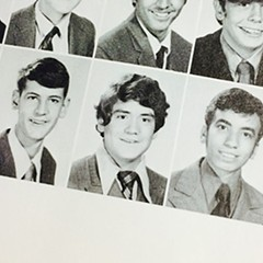 Jesus Garcia as a sophomore at Saint Rita High School, shortly before he began growing his trademark mustache.