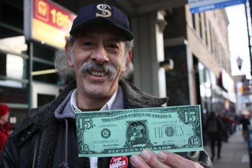 Jorge Mujica wants you to remember his name. And his face. And that he wants to raise the minimum wage to $15.