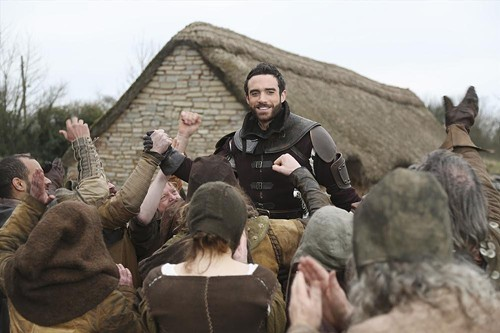 Joshua Sasse is Galavant, a knight in not-terribly-shiny armor.