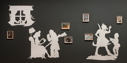 Kara Walker, Rise Up Ye Mighty Race!, 2013, Installation view at the Art Institute of Chicago.
