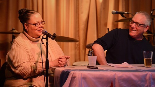 Karen Lewis and Ben at the Hideout on Tuesday night