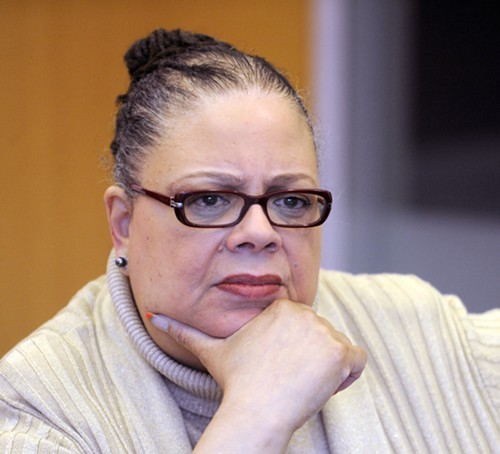 Karen Lewis, president of the Chicago Teachers Union, says shell challenge Mayor Rahm Emanuel if no one else will.