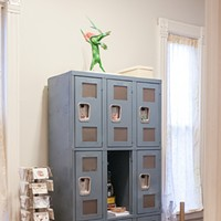 Latin American Design Aesthetics in Humboldt Park Kelly keeps art supplies in a set of vintage lockers. Andrea Bauer