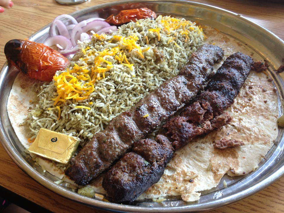 Lamb and beef koubideh kabob, Kabobi