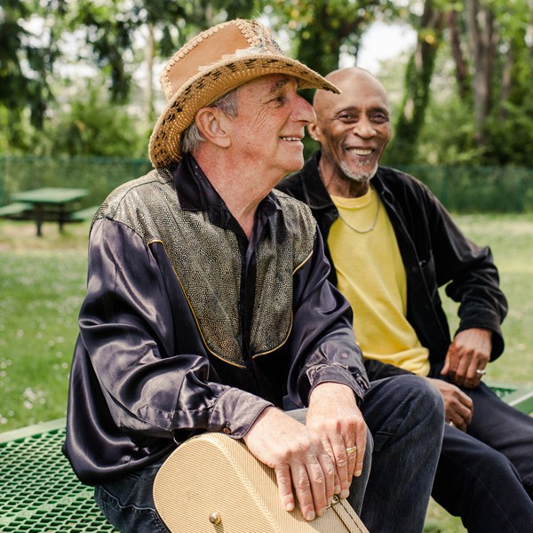 Lavender Country founder Patrick Haggerty with Chicago native Bobby Taylor, his bandmate in Memory Lane