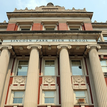 Lincoln Park High School, where eight teachers were hired and then promptly unhired for the 2013-14 school year.