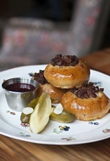 Lithuanian-style bacon buns with crispy pork bits - ANDREA BAUER