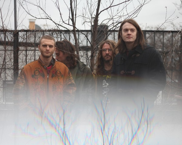 Liturgy, left to right, is drummer Greg Fox, bassist Tyler Dusenbury, guitarist Bernard Gann, and guitarist-vocalist Hunter Hunt-Hendrix.