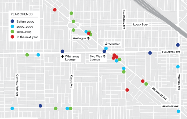 Logan Square bars map paul john higgins julia thiel