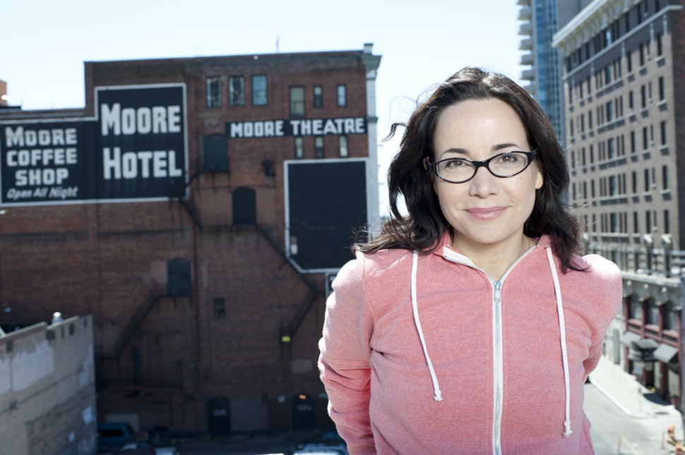 Looking good with a little help: Janeane Garofalo