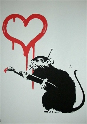 Love Rat, by Banksy