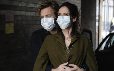 Lovers Ewan McGregor and Eva Green wear protection in Perfect Sense.